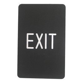 Engraved Color Core Sign - Exit