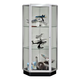 Prominence Free-Standing Corner Display Case