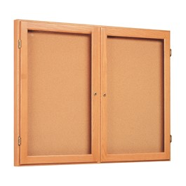 "Messenger 77 Series Display Case - Two Doors (48"" W x 2\"" D x 36\"" H)"