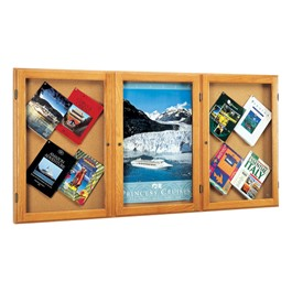 "Messenger 77 Series Display Case - Three Doors (72\"" W x 2\"" D x 36\"" H )"