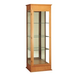 Varsity 792 Series Display Case - Shown w/ autumn oak finish