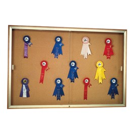 Legacy 88 Series Display Case - Shown w/ natural cork back