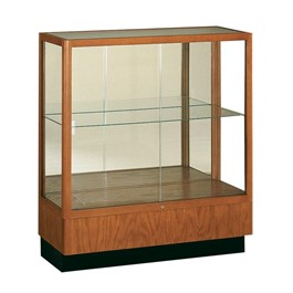 Heritage 8949 Series Counter-Height Display Case - Shown w/ hardwood finish