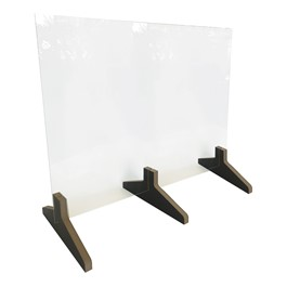 Countertop Protective Acrylic Shield w/ Wood Feet