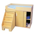 Toddler Changing Table w/ Stow-Away Steps