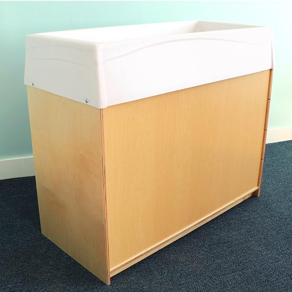 Changing & Storage Cabinet - Polyethylene Top - Back