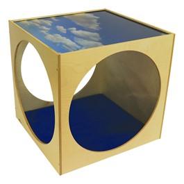 Acrylic Top Play House Cube w/ Floor Mat Set