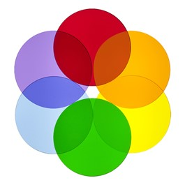 Color Wheel Acrylic Shapes - Circles