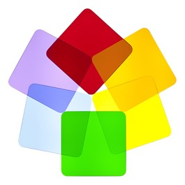Color Wheel Acrylic Shapes - Squares