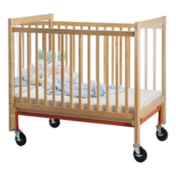 Evacuation Caster Set for Adjustable-Bottom Safety Crib