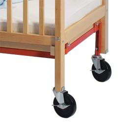 Evacuation Caster Set for Adjustable-Bottom Safety Crib