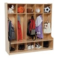 Natural Birch Wooden Five-Section Locker