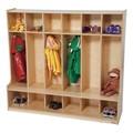 Wooden Six-Section Locker