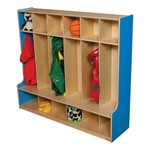 Colorful Wooden Six-Section Locker - Blueberry