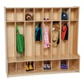Wooden Eight-Section Locker