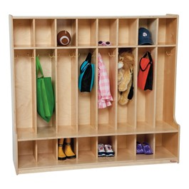 Colorful Wooden Eight-Section Locker - Natural