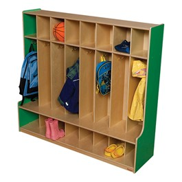 Colorful Wooden Eight-Section Locker - Green Apple
