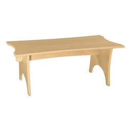 "Scalloped Straight Bench - 30""W x 12""H"