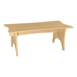 "Scalloped Bench -  30""W x 12\""H"