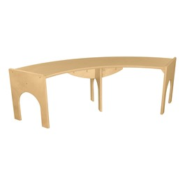 "Curved Bench - 48""W x 10\""H"