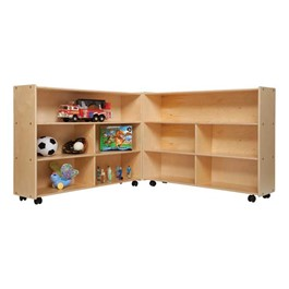 Mobile Folding Wooden Storage Unit
