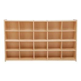 20-Tray Wooden Storage Unit - Assembled & w/o Trays