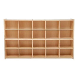 20-Tray Wooden Storage Unit - Unassembled & w/o Trays