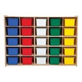 25-Tray Wooden Storage Unit