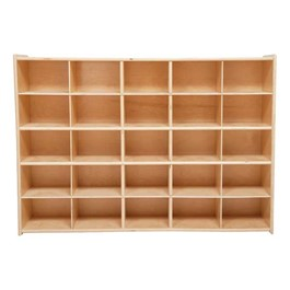 25-Tray Wooden Storage Unit - Assembled & w/o Trays
