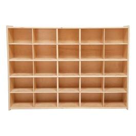 25-Tray Wooden Storage Unit - Unassembled & w/o Trays