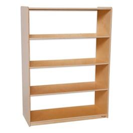 """Clear Back Bookshelf - 49\"""" H"""