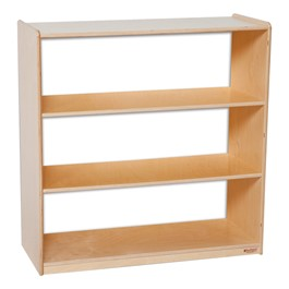 "Clear Back Bookshelf - 36 3/4"" H"