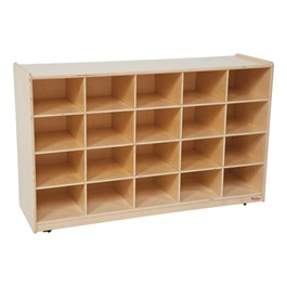 20-Tray Colorful Mobile Storage Unit w/o Trays - Shown in natural
