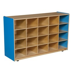 20-Tray Colorful Mobile Storage Unit w/o Trays - Shown in blueberry