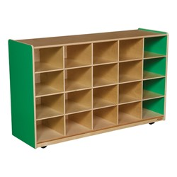 20-Tray Colorful Mobile Storage Unit w/o Trays - Shown in green apple