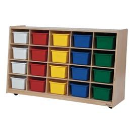 20-Tray Storage Unit w/ Assorted Trays