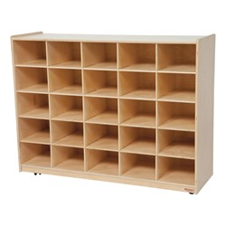 25-Tray Colorful Mobile Storage Unit w/o Trays - Natural