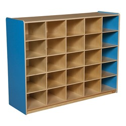 25-Tray Colorful Mobile Storage Unit w/o Trays - Blueberry