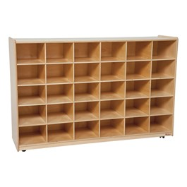30-Tray Colorful Mobile Storage Unit w/o Trays - Natural
