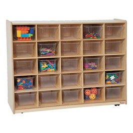 25-Tray Storage Unit w/ Clear Trays - Accessories not included