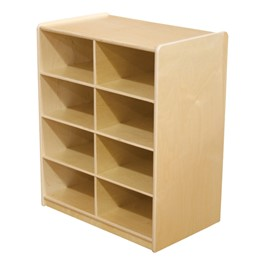 Five-Inch Letter Tray Mobile Storage Unit - Eight Cubbies w/o Trays