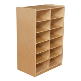 Five-Inch Letter Tray Mobile Storage Unit - 12 Cubbies w/o Trays