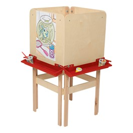 Four Sided Easel w/ Plywood