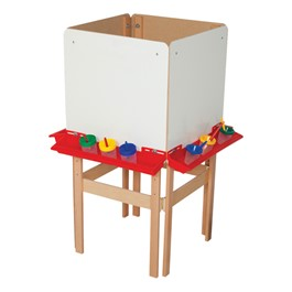 Four-Sided Easel w/ Markerboard