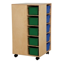 Space Saver Cubby Spinner w/ Assorted Trays