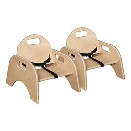 """Woodie Chair w/ Belt (5\"""" Seat Height) - Pack of Two"""