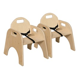 """Woodie Chair w/ Belt (9\"""" Seat Height) - Pack of Two"""