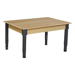 Rectangle Hardwood Adjustable-Height Table w/ Chairs - Table