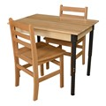 Rectangle Hardwood Adjustable-Height Table w/ Chairs