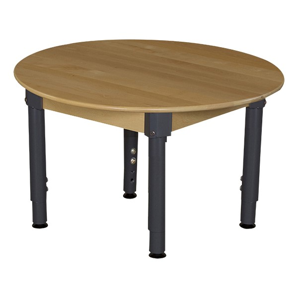 Round Hardwood Adjustable-Height Table w/ Chairs - Table